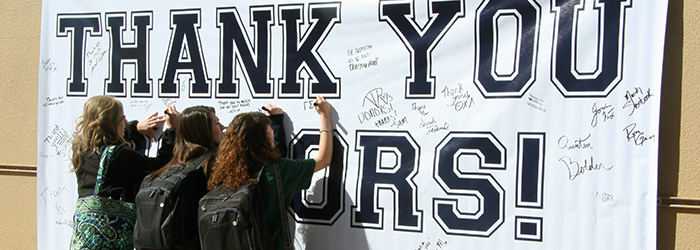 Thank You Donors Banner